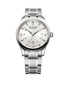 Victorinox Swiss Army Alliance Silver-Tone Dial Bracelet