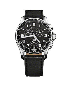 Victorinox Swiss Army Chrono Classic Black Strap Watch
