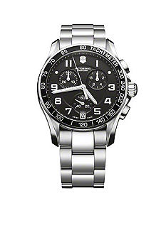 Victorinox Swiss Army Chrono Classic Black Dial Bracelet Watch