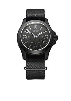 Victorinox Swiss Army Original Black Dial with Black NATO Nylon Strap