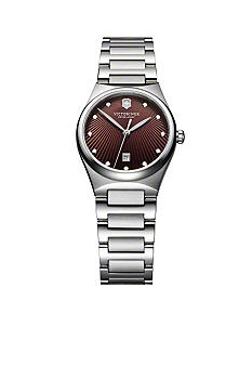 Victorinox Swiss Army Victoria Brown Dial Bracelet Watch