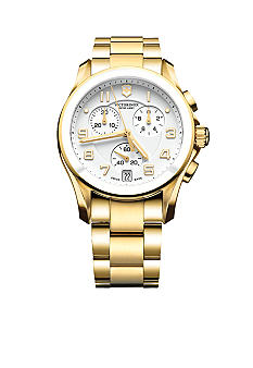 Victorinox Swiss Army Chrono Classic Gold Ceramic Bezel Watch