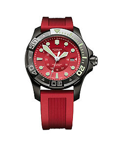 Victorinox Swiss Army Dive Master 500 Mechanical Watch with Red Dial and Strap