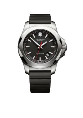 Victorinox Swiss Army  Inox Black Rubber Watch -  54001182416821