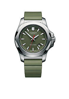 Victorinox Swiss Army Inox Green Rubber Watch