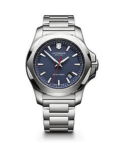 Victorinox Swiss Army Men's I.N.O.X. Stainless Steel Blue Dial Watch