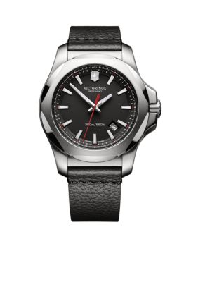 Victorinox Swiss Army  Inc.  Men's I.N.O.X. Black Dial Watch -  54001182417371
