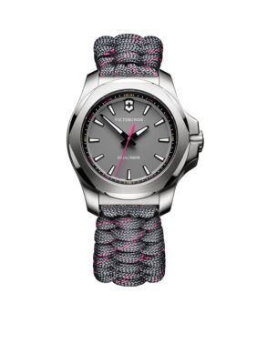Victorinox Swiss Army  Inc.  Women's I.N.O.X. Gray and Pink Paracord Watch -  5400118241771