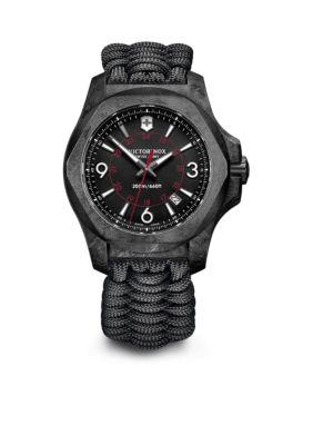 Victorinox Swiss Army  Inc.  Men's I.N.O.X. Carbon Black Dial Watch -  5400118241776