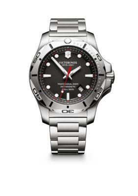Victorinox Swiss Army  Inc.  I.N.O.X. Professional Diver Black Dial Watch -  5400118241781