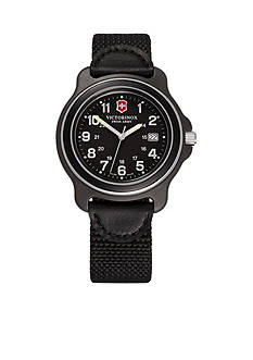 Victorinox Swiss Army Original XL Black Dial Black Bezel Nylon Strap Watch