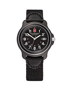 Victorinox Swiss Army Original Black Dial Black Bezel Nylon Strap Watch