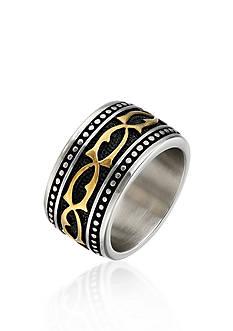 Belk & Co. Men's Stainless Steel Ring