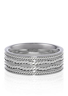 Belk & Co. Men's Stainless Steel Ring