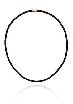 Belk & Co. Men's Black Leather Necklace