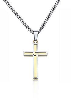 Belk & Co. Men's Stainless Steel Cross Pendant