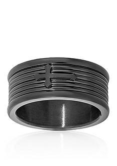 Belk & Co. Men's Stainless Steel Cross Ring