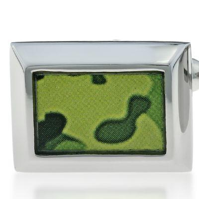 Jewelry & Watches: Belk & Co. Fine Jewelry: Green Belk & Co. Mens Stainless Steel Camouflage Cufflinks