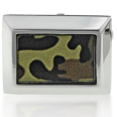 Jewelry & Watches: Belk & Co. Fine Jewelry: Brown Belk & Co. Mens Stainless Steel Camouflage Cufflinks