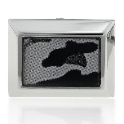 Jewelry & Watches: Belk & Co. Fine Jewelry: Gray Belk & Co. Mens Stainless Steel Camouflage Cufflinks