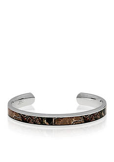 Belk & Co. Men's Stainless Steel Light Brown Camouflage Bangle