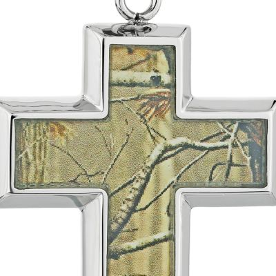 Jewelry & Watches: Belk & Co. Fine Jewelry: Light Brown Belk & Co. Men's Stainless Steel Camouflage Cross Pendant