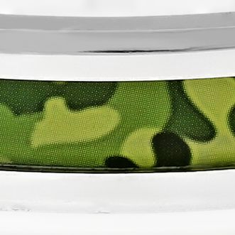 Mens Bracelets: Green Belk & Co. Men's Stainless Steel Camouflage Bracelet