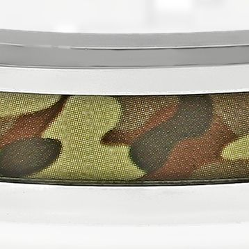 Mens Bracelets: Brown Belk & Co. Men's Stainless Steel Camouflage Bracelet