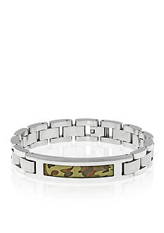 Belk & Co. Men's Stainless Steel Camouflage Bracelet