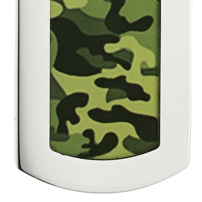 Jewelry & Watches: Belk & Co. Fine Jewelry: Green Belk & Co. Men's Stainless Steel Camouflage Dog Tag Necklace