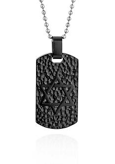 Belk & Co. Men's Stainless Steel Dog Tag Pendant