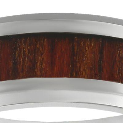 Jewelry & Watches: Belk & Co. Fine Jewelry: Light Brown Belk & Co. Men's Stainless Steel Brown Wood Ring