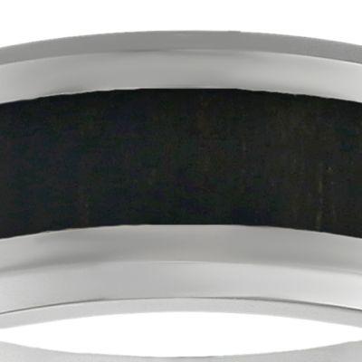 Jewelry & Watches: Belk & Co. Fine Jewelry: Dark Brown Belk & Co. Men's Stainless Steel Brown Wood Ring