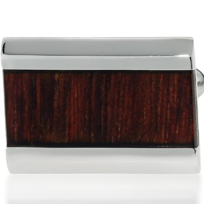 Jewelry & Watches: Belk & Co. Fine Jewelry: Dark Brown Belk & Co. Mens Stainless Steel and Wood Cufflinks