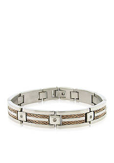 Belk & Co. Men's Stainless Steel Cubic Zirconia Bracelet