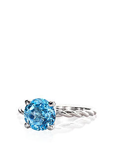 Belk & Co. Sterling Silver Blue Topaz Ring