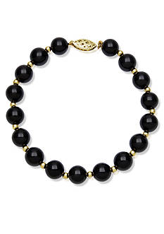 Belk & Co. 10k Yellow Gold Onyx Bracelet