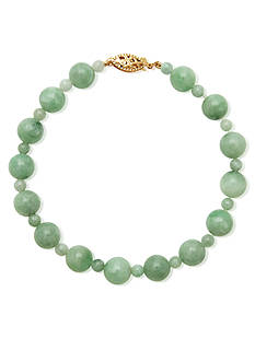 Belk & Co. 14k Yellow Gold Jade Bracelet