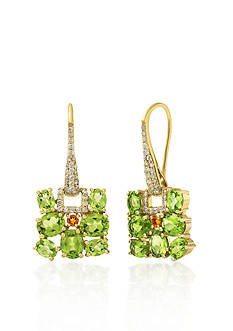 Belk & Co. 14k Yellow Gold Peridot and Citrine Earrings