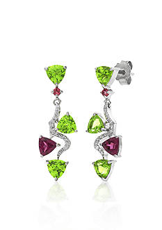 Belk & Co. 14k White Gold Multi Gemstone Earrings