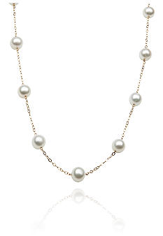 Belk & Co. 14k Yellow Gold Freshwater Pearl Tincup 18 Necklace