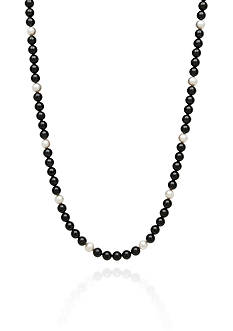 Belk & Co. Onyx and Freshwater Pearl Necklace