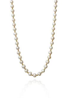 Amour de Pearl 14k Yellow Gold Freshwater Pearl Necklace