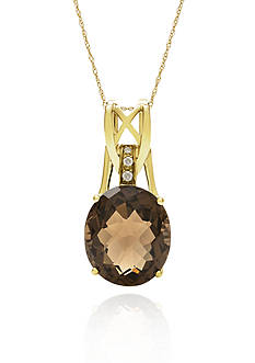 Belk & Co. 14k Yellow Gold Smokey Quartz Pendant