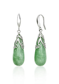 Belk & Co. Sterling Silver Jade Drop Earrings