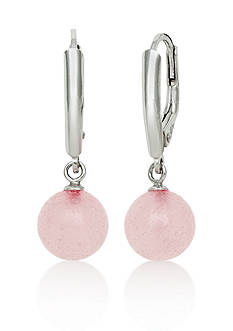 Belk & Co. Sterling Silver Rose Quartz Earrings