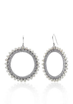 Belk & Co. Sterling Silver Freshwater Circle Hoop Earrings