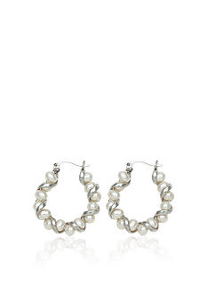 Sterling Silver Freshwater Pearl Twist Earrings <br>