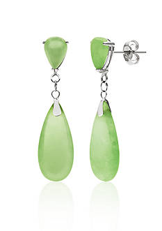 Belk & Co. Sterling Silver Jade Drop Earring