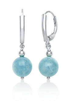 Belk & Co. Sterling Silver Milky Aquamarine Earrings